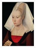Portrait of a Lady, circa 1450-60 Giclee Print by Rogier van der Weyden