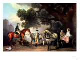 Melbourne and Milbanke Families Giclee Print by George Stubbs