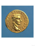 Aureus (Obverse) of Caligula (Ad 37-41) Bareheaded (Gold) Inscription: C Caesar Avg Germ P M Tr Pot Giclee Print