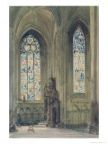 Chapel in the South Transept, Rouen Cathedral Giclee Print by August Welby North Pugin