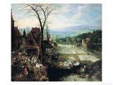Market and Bleaching Ground, 1620-22 Giclee Print by Joos de Momper