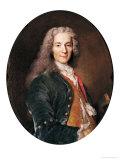 Portrait of Voltaire (1694-1778) Aged 23, 1728 Giclee Print by Nicolas de Largilliere