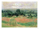 Haystack at Giverny, 1886 Giclée-tryk af Claude Monet