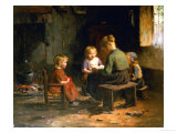 The Reading Lesson Giclee Print by Evert Pieters