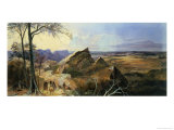 Aborigines in an Australian Landscape Giclee Print by George Rowe