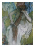 Woman Combing Her Hair, 1887-90 Giclee Print by Edgar Degas