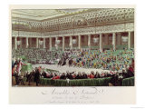 The National Assembly Renounces All Privileges, 4th August 1789, Engraved by Helman (1743-1809) Giclee Print by Charles Monnet