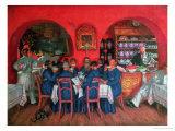 Moscow Cafe, 1916 Giclee Print by Boris Kustodiyev