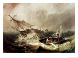 Rowing to Rescue Shipwrecked Sailors off the Northumberland Coast Giclee Print by John Wilson Carmichael