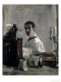 Self Portrait, 1880 Giclee Print by Henri de Toulouse-Lautrec