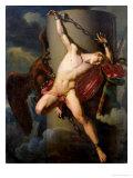 The Torture of Prometheus, 1819 Premium Giclee Print by Jean-Louis-Cesar Lair