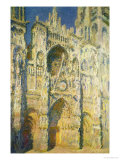 Rouen Cathedral in Full Sunlight: Harmony in Blue and Gold, 1894 Giclee Print by Claude Monet