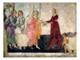 Venus and the Graces Offering Gifts to a Young Girl, 1486 Premium Giclee Print by Sandro Botticelli