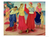 Young Women on the Volga, 1915 Giclee Print by Kuzma Sergievitch Petrov-Vodkin