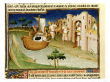 Marco Polo with Elephants and Camels Arriving at Hormuz on the Gulf of Persia from India Premium Giclee Print
