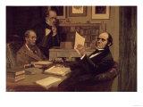 Joseph Hooker (1817-1911), Charles Lyell (1797-1875) and Charles Robert Darwin (1809-82), Giclee Print