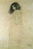 Portrait of a Young Woman, 1896-97 Reproduction proc&#233;d&#233; gicl&#233;e par Gustav Klimt