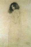 Porträtt av en ung kvinna, 1896–97 Gicléetryck av Gustav Klimt
