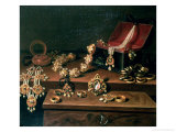Casket of Jewels on a Table, Principally of German Origin (1600-50) Giclee Print by Pieter Gerritsz. van Roestraten