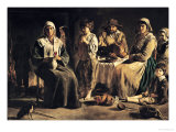 Peasant Family in an Interior, circa 1643 Giclee Print by Louis Le Nain
