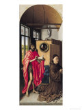St. John the Baptist and the Donor, Heinrich Von Werl from the Werl Altarpiece, 1438 Giclee Print by  Master of Flemalle