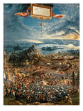 The Battle of Issus, or the Victory of Alexander the Great, 1529 (Oil on Panel) Giclée-Druck von Albrecht Altdorfer