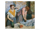 The Laundresses, circa 1884 Giclee Print by Edgar Degas