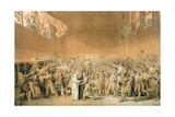 The Oath of the Tennis Court, 20 June 1789, 1791 (Grisaille Sketch) Giclee Print by Jacques-Louis David