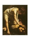 David Victorious over Goliath, circa 1600 Giclee Print by Caravaggio 