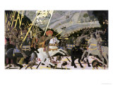 The Rout of San Romano, circa 1438-40 (Tempera on Poplar) Gicleetryck av Paolo Uccello