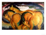 Little Yellow Horses, 1912 Gicleetryck av Franz Marc