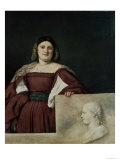 Portrait of a Lady (La Schiavona), circa 1510-12 Giclee Print by  Titian (Tiziano Vecelli)