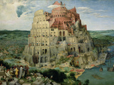 The Tower of Babel, painting by Pieter Brueghel the Elder, Giclee Print