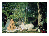 Le Dejeuner Sur L&#39;Herbe, 1866 Giclee Print by Claude Monet