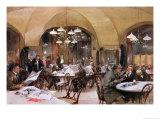 Cafe Griensteidl, Vienna, 1890 Giclée-Druck von Reinhold Volkel