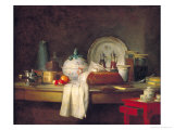 The Officers' Mess or the Remains of a Lunch, 1763 Giclee Print by Jean-Baptiste Simeon Chardin