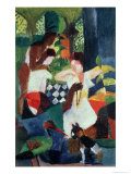 The Turkish Jeweller Giclee Print by Auguste Macke