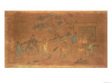 Scene from the Life of Confucius (circa 551-479 BC) and His Disciples, Qing Dynasty (1644-1912) Giclee Print
