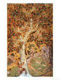 Johnson Album I, No.30 Squirrels on a Plane Tree, Mughal, circa 1610 Giclee Print by Abu'l Hasan