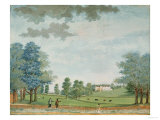 The Great House and Park at Chawton, circa 1700 (Gouache) Giclee Print