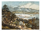 The Catskill Mountains from the Eastern Shore of the Hudson Giclee Print by Currier & Ives
