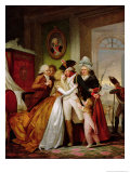 The Departure of the Volunteers Giclee Print by Francois Louis Joseph Watteau