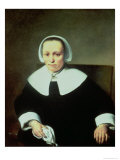 Portrait of a Lady with White Collar and Cuffs Giclee Print by Ferdinand Bol