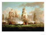 &quot;Neptune&quot; Engaged, Trafalgar, 1805 Giclee Print by J. Francis Sartorius