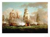 """""""Neptune"""" Engaged, Trafalgar, 1805 Giclee Print by J. Francis Sartorius"""