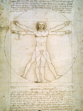 O Homem Vitruviano, c.1492 Impressão giclée por  Leonardo da Vinci