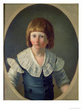 Louis XVII (1785-95) Aged 8, at the Temple, 1793 Giclee Print by Joseph Marie Vien