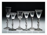 Air-Twist Glasses, 1750-60 (Glass) Giclee Print
