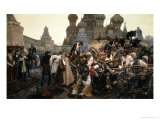 The Morning of the Execution of the Streltsy in 1698, 1881 Premium Giclee Print by Vasilii Ivanovich Surikov