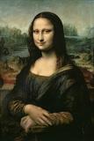 Mona Lisa, c.1507 Gicleetryck av  Leonardo da Vinci